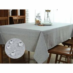 "UltraShang Grey Oblong Spillproff Tablecloth 60"" x 104"" Gray"