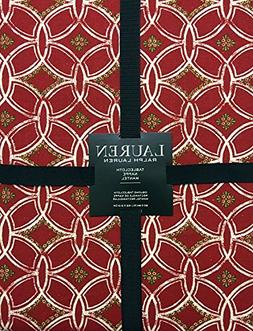 Ralph Lauren Hampstead Red Christmas Holiday Tablecloth | 60