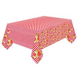 HAPPY BIRTHDAY PIZZA PARTY PAPER TABLE COVER ~ Birthday Part