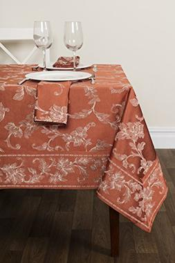 Harmony Scroll Tablecloth For Fall and Harvest