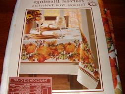 "Benson Mills Harvest Blessings Textured Tablecloth 60"" 104"""