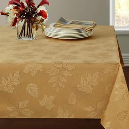 Benson Mills Harvest Legacy Damask Tablecloth For Fall And H
