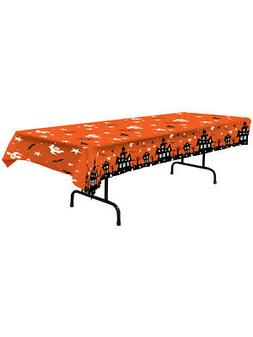 """Haunted House Tablecover Party Accessory 54"""" x 108"""""""