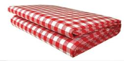 Heavy Duty Checkered Red Vinyl Picnic Tablecloth Cover Table