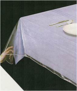 HEAVY DUTY-VINYL- OBLONG TABLECLOTH-DAMAGE PROTECTOR-WATERPR