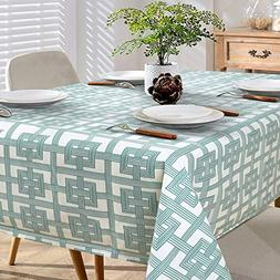 Nordmiex Heavy Weight Rectangle Tablecloth Flocked Fabric Du