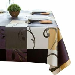 LEEVAN Heavy Weight Vinyl Rectangle Table Cover Wipe Clean P