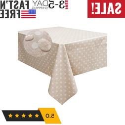 Heavy Weight Vinyl Square Table Cover Wipe Clean PVC Tablecl