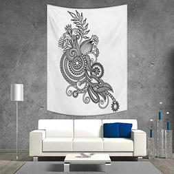 smallbeefly Henna Tapestry Wall Hanging 3D Printing Hand Dra