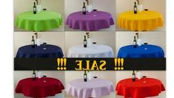"""High Quality""""LINEN""""Look Tablecloth Round,Square,Rectangle av"""