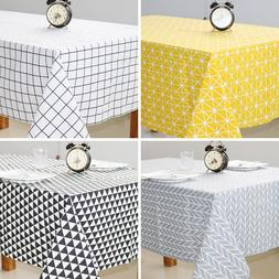 High quality plaid print <font><b>table</b></font> <font><b>