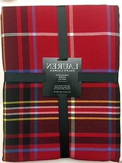 holiday baker plaid red tablecloth