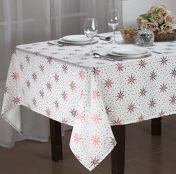 HOLIDAY DECORATIVE TWINKLE FABRIC TABLECLOTH, DINING PARTY,