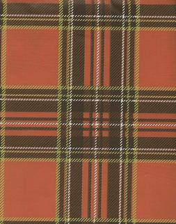 Holiday Harvest Fall Autumn Orange Brown Plaid Tablecloth