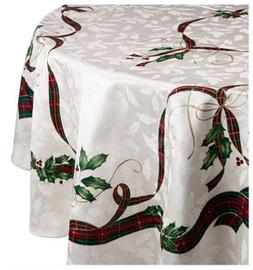 "LENOX Holiday Nouveau Tablecloth Rectangle 60"" x 84"" NEW $80"