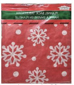 Holiday Style Christmas Table Cloth VINYL 52 X 52 Light WeIg