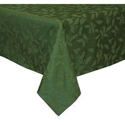 Lenox Holly Damask Tablecloth, 60 by 140-Inch Oblong/Rectang