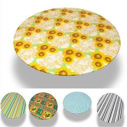 Carnation Home Fashions Multi Pattern 48'' Round Fitted Viny