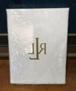 Ralph Lauren Home Tablecloth White Paisley Suite Oblong 60 x