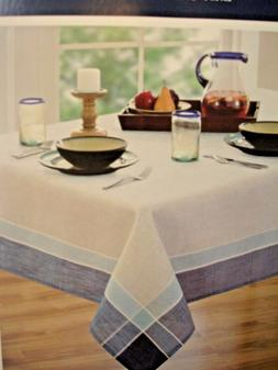 "Home-wear Hudson Easy Care 60"" x 120"" Oblong Tablecloth Natu"