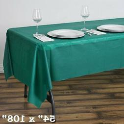 "Hunter Green RECTANGLE 54x108"" Disposable Plastic TABLE COVE"
