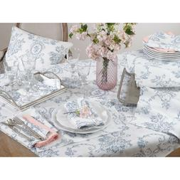 Occasion Gallery Indigo Toile Floral Table Linens Placemats