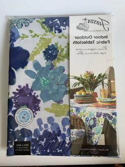 Fiesta Indoor Outdoor Fabric Tablecloth Garden Floral/ Cool
