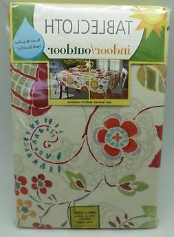 Floral Bloom Indoor Outdoor Tablecloth Fabric 60 Inches x 12