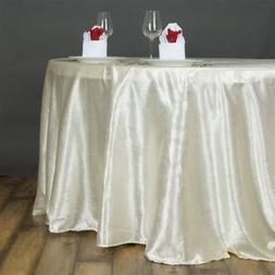 """IVORY 120"""" LILY EMBOSSED SATIN ROUND TABLECLOTH Wholesale We"""