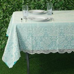 IVORY 60x90 RECTANGLE Floral LACE TABLECLOTH Wedding Party C