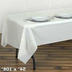 """Ivory RECTANGLE 54x108"""" Disposable Plastic TABLE COVER Table"""