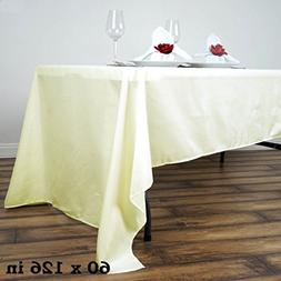BalsaCircle 60x126-Inch Ivory Rectangle Polyester Tablecloth