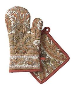 Maison d' Hermine Kashmir Paisley 100% Cotton Set of Oven Mi