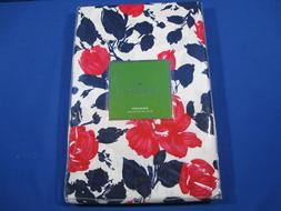 KATE SPADE GARDEN ROSE TABLECLOTH 70 ROUND WHITE NAVY BLUE R