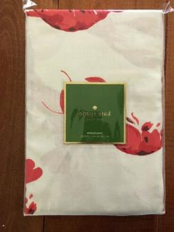 "KATE SPADE LOBSTER FETE TABLECLOTH 60"" X 102"" RED CREAM BEAC"