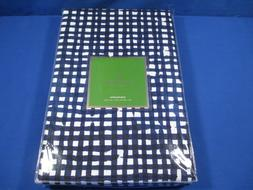 KATE SPADE PAINTED GINGHAM TABLECLOTH 60 x 84 NAVY BLUE PLAI