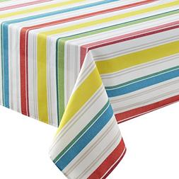 Benson Mills Kitchen Stripe Indoor Outdoor Spillproof Tablec