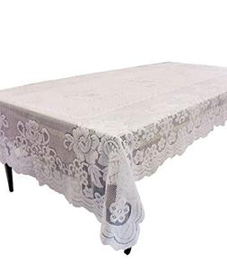GEFEII Kitchen White Lace Tablecloth Rectangular for Rectang