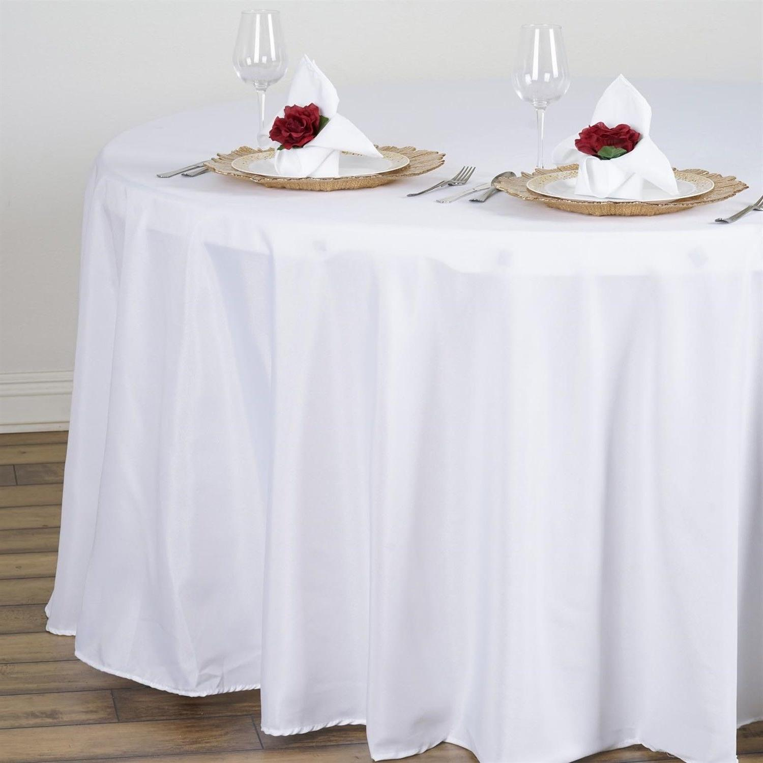 1 to White Tablecloth 5' Feet Table