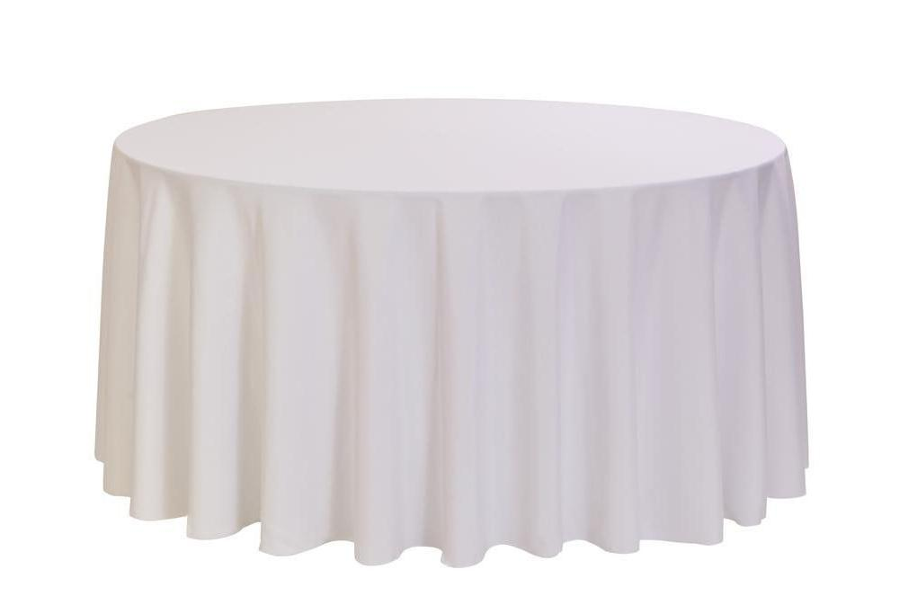 """1 to 50 White 120"""" Tablecloth 5' Table Cover"""