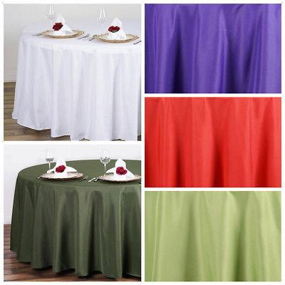 """10 pc 108"""" Round Polyester Tablecloth Tabletop Wedding Whole"""