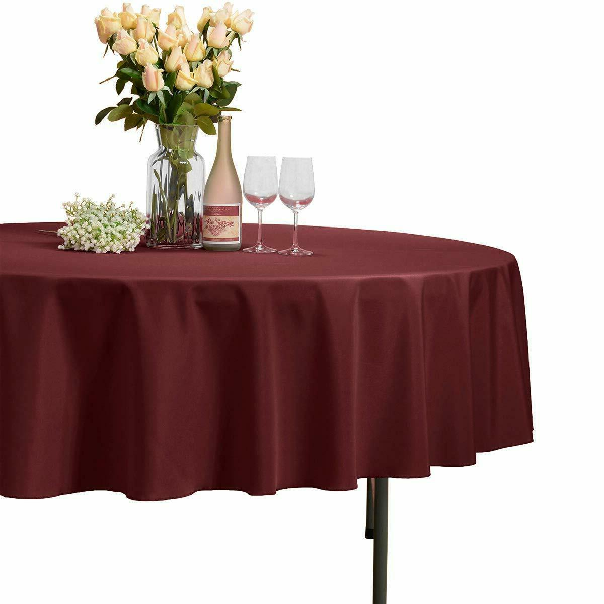 108 round tablecloth 100 percent polyester circular