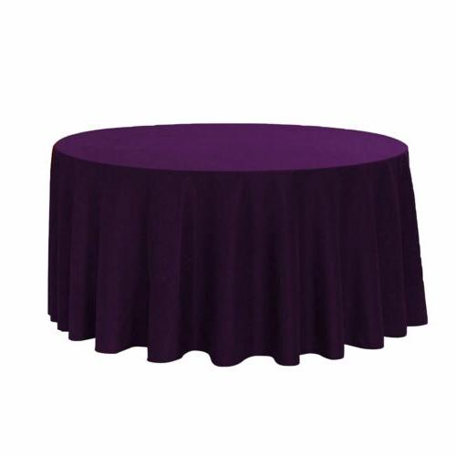 Your Chair Covers 120 Inch Round Polyester Tablecloths