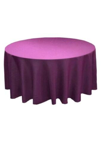 120 round solid polyester tablecloth purple tj