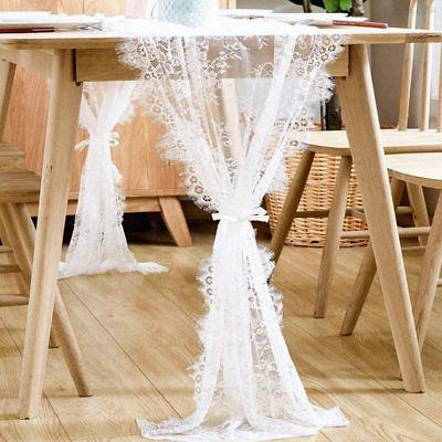 14 X 120 Inches Romantic Lace Tablecloth White Wedding Table