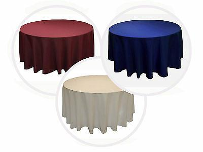 18 ROUND Polyester Table Cover WEDDING EVENT 5' Feet