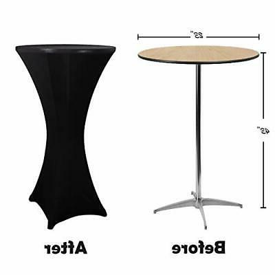"""4 Pack 23""""x43"""" Cocktail Round Tablecloth"""