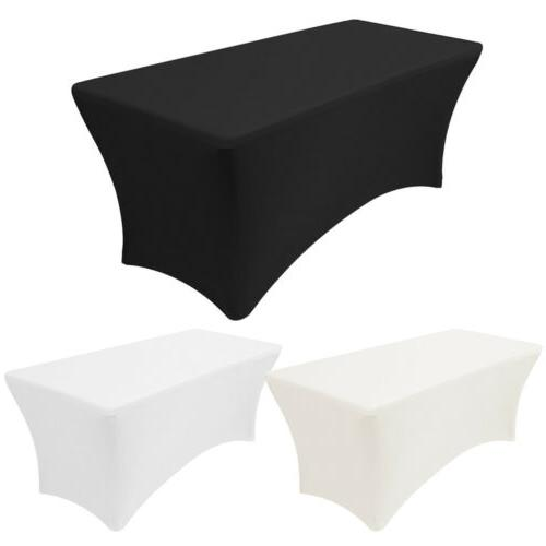 4ft 6ft 8ft stretch spandex tablecloth fitted