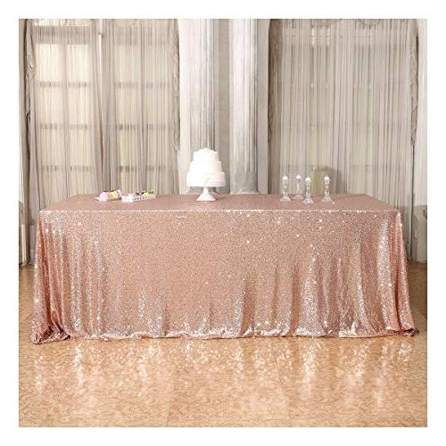 50 80 rectangle sequin tablecloth