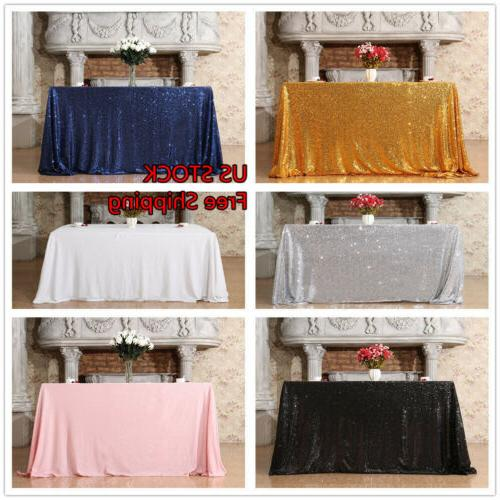 50 x80 sequin tablecloth and rectangle sequin